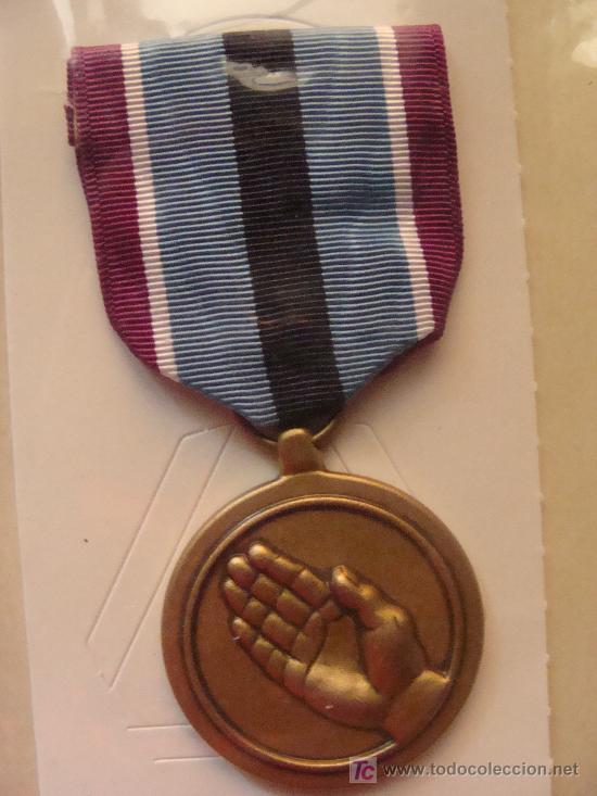 MEDALLA MILITAR USA. SERVICIO HUMANITARIO USA. HUMANITARIAN SERVICE. PRECINTADA. (Militar - Medallas Extranjeras Originales)