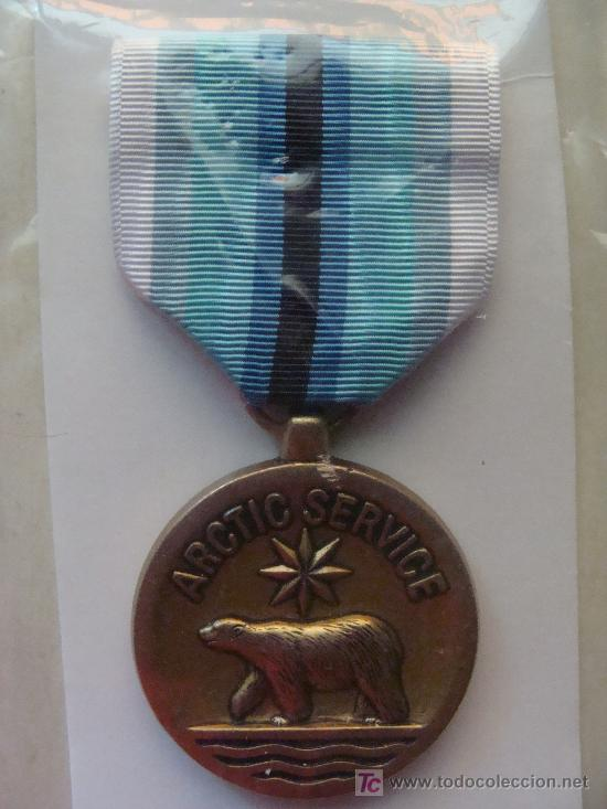 MEDALLA MILITAR USA. SERVICIO MILITAR EN EL ÁRTICO. ARTIC SERVICE. PRECINTADA. (Militar - Medallas Extranjeras Originales)