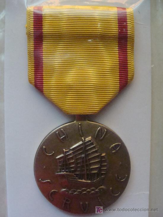 MEDALLA MILITAR USA. SERVICIO MARÍTIMO EN CHINA SEGUNDA GUERRA MUNDIAL. PRECINTADA. (Militar - Medallas Extranjeras Originales)