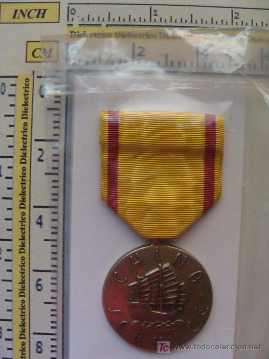 Militaria: MEDALLA MILITAR USA. SERVICIO MARÍTIMO EN CHINA SEGUNDA GUERRA MUNDIAL. PRECINTADA. - Foto 2 - 9561260