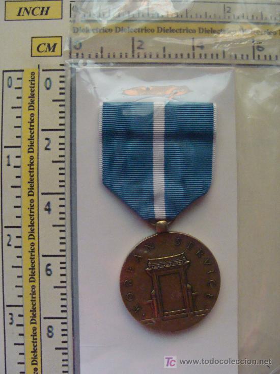 Militaria: MEDALLA MILITAR USA. SERVICIO EN LA GUERRA DE KOREA. KOREAN SERVICE. PRECINTADA. - Foto 2 - 9561096