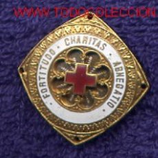 Militaria: ESPAÑA. ORDEN DE LA BENEFICENCIA. COLECTIVA EN METAL PARA LA CRUZ ROJA.. Lote 36915686