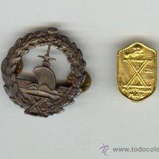 Militaria: DOS BONITAS REPLICAS INSIGNIAS ITALIA X FLOTILLA MAS MEDIDAS: 4'5 Y 1'9 CENTÍMETROS. Lote 21892798
