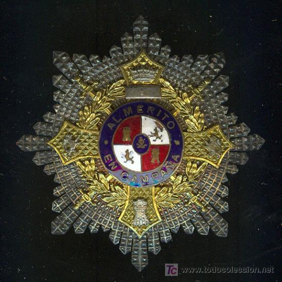PLACA AL MERITO EN CAMPAÑA. PLATA (Militar - Medallas Españolas Originales )