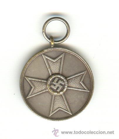CRUZ DE GUERRA SIN ESPADAS (PARA CIVILES) TERCERA CLASE VERSIÓN PLATA (Militar - Medallas Extranjeras Originales)