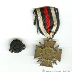 Militaria: ALEMANIA 1914-1918 PRIMERA GUERRA MUNDIAL CRUZ DE GUERRA CON ESPADAS CON INSIGNIA DE SOLAPA??. Lote 21892814