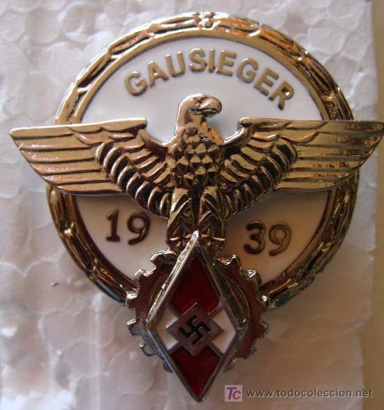 MEDALLA ALEMANIA . GAUSIEGER. ESVÁSTICA. COMPETICIONES DEL III REICH JUVENTUDES HITLER. (Militar - Reproducciones y Réplicas de Medallas )