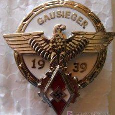 Militaria: MEDALLA ALEMANIA . GAUSIEGER. ESVÁSTICA. COMPETICIONES DEL III REICH JUVENTUDES HITLER.. Lote 159208130