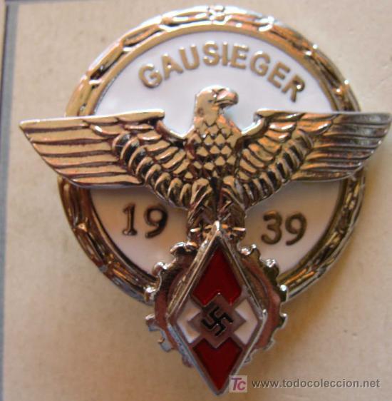 Militaria: MEDALLA ALEMANIA . GAUSIEGER. ESVÁSTICA. COMPETICIONES DEL III REICH JUVENTUDES HITLER. - Foto 2 - 159208130