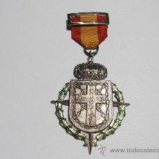 Militaria: MEDALLA XXV ANIVERSARIO DE EXCOMBATIENTES DE NAVARRA (1961) CON SU CINTA. Lote 93269835