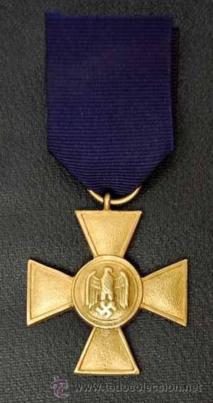 Militaria: CRUZ 25 AÑOS DE SERVICIO EN LA WHERMACHT. ALEMANIA II REICH - Foto 2 - 25722790
