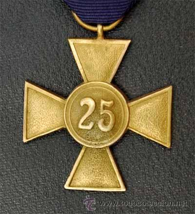 Militaria: CRUZ 25 AÑOS DE SERVICIO EN LA WHERMACHT. ALEMANIA II REICH - Foto 3 - 25722790