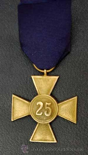 Militaria: CRUZ 25 AÑOS DE SERVICIO EN LA WHERMACHT. ALEMANIA II REICH - Foto 4 - 25722790