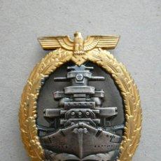 Militaria: ALEMANIA PLACA FLOTA DE ALTA MAR ACORAZADOS - II GUERRA MUNDIAL. Lote 26368866