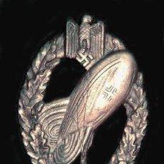 Militaria: DISTINTIVO GLOBOS DE OBSERVACIÓN DE LA WH. CATEGORIA PLATA. Lote 16910766