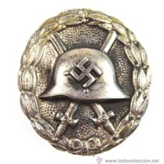 Militaria: LEGIÓN CÓNDOR, DISTINTIVO DE HERIDO EN PLATA 800, MANUFACTURA 43 DE JULIUS BAUER SOHNE. Lote 26185233