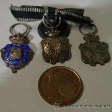 Militaria: 3 MEDALLA EN MINIATURA DE JUEZ, ALFONSO XIII-REPÚBLICA-FRANCO. Lote 16007548