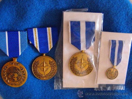 LOTE DE MEDALLAS ONU OTAN (Militar - Medallas Españolas Originales )