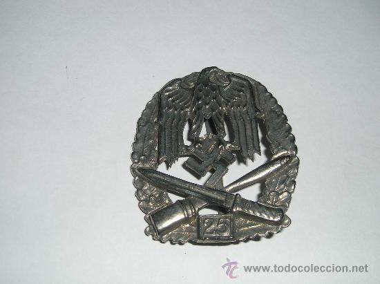PLACA DE ASALTO GENERAL,25 ASALTOS (Militar - Reproducciones y Réplicas de Medallas )