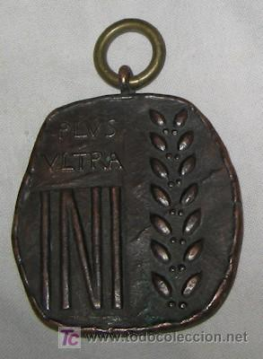 MEDALLA PLUS ULTRA INI, DE BRONCE (Militar - Medallas Españolas Originales )