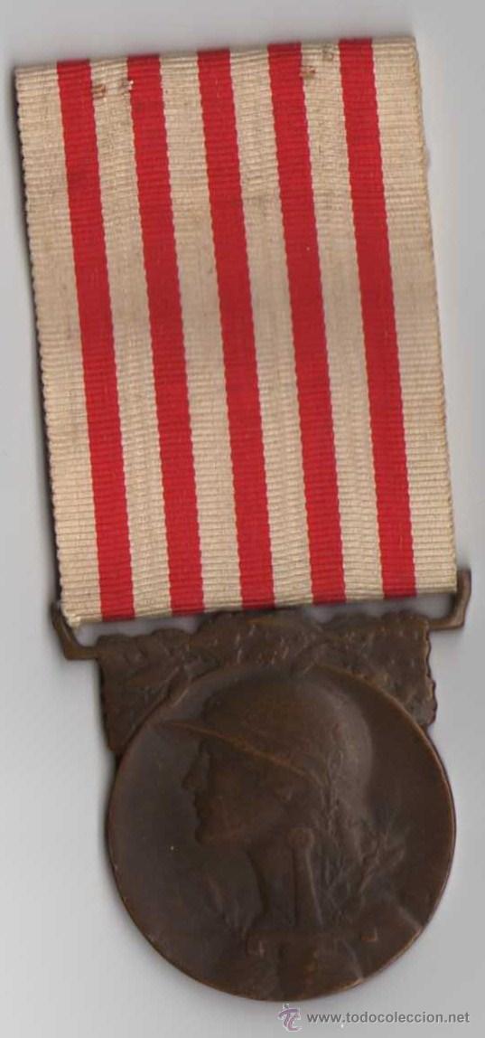 FRANCIA MEDALLA FRANCESA COMMEMORATIVA 1 GUERRA MUNDIAL (Militar - Medallas Extranjeras Originales)