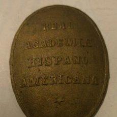Militaria: CENTRO DE LA PLACA REAL ACADEMIA HISPANO AMERICANA. Lote 18434247