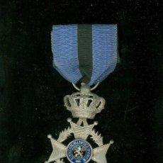 Militaria: MEDALLA MILITAR BELGA. L´UNION FAIT LA FORCE. PLATA.. Lote 27243343