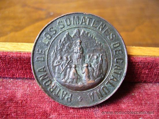 MEDALLA DE LOS SOMATENES DE CATALUÑA - ÉPOCA ALFONSO XIII (Militar - Medallas Españolas Originales )