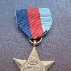 Militaria: MEDALLA 100% ORIGINAL II GUERRA MUNDIAL MEDALLA INGLESA ESTRELLA 1939-1945 STAR . Lote 20978334