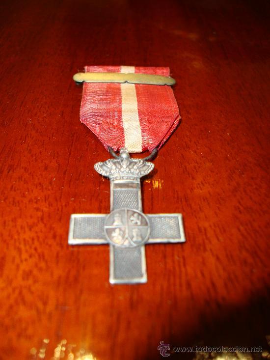 CRUZ MÉRITO MILITAR DISTINTIVO ROJO (TROPA). GOBIERNO PROVISIONAL (1868-1871) (Militar - Medallas Españolas Originales )