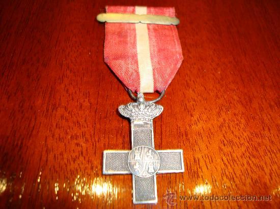 Militaria: Cruz mérito militar distintivo rojo (tropa). Gobierno provisional (1868-1871) - Foto 2 - 26780193