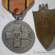 Militaria: POLONIA: 1945 - MEDALLA Y PLACA DE LA CAPTURA DE BERLÍN. Lote 26829454