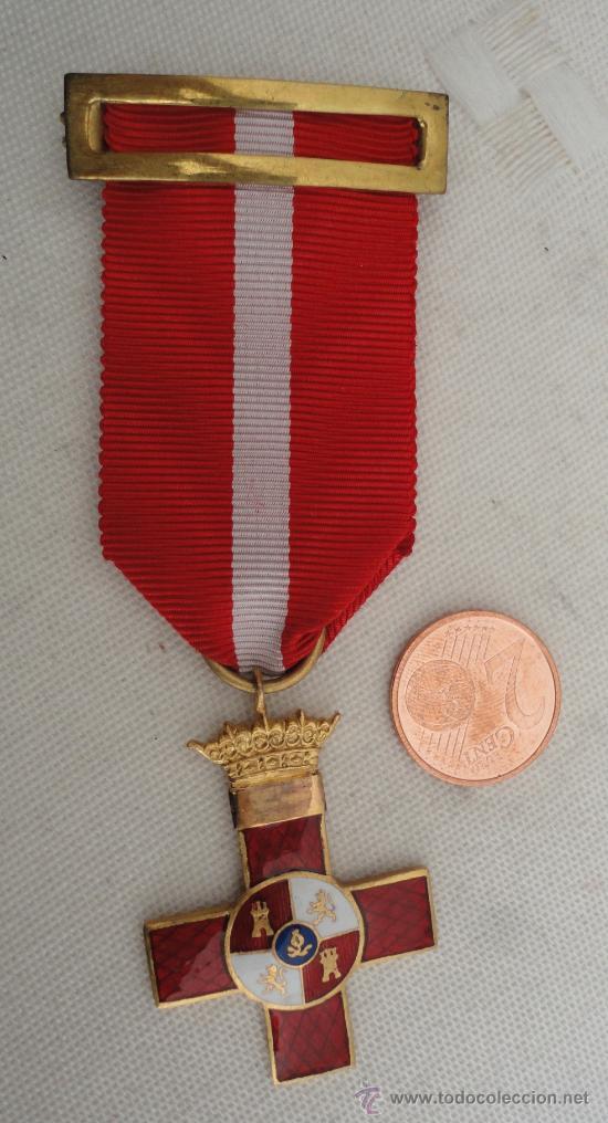 MEDALLA AL MÉRITO MILITAR ROJO, UNIFACIAL, CORONA FIJA (Militar - Medallas Españolas Originales )
