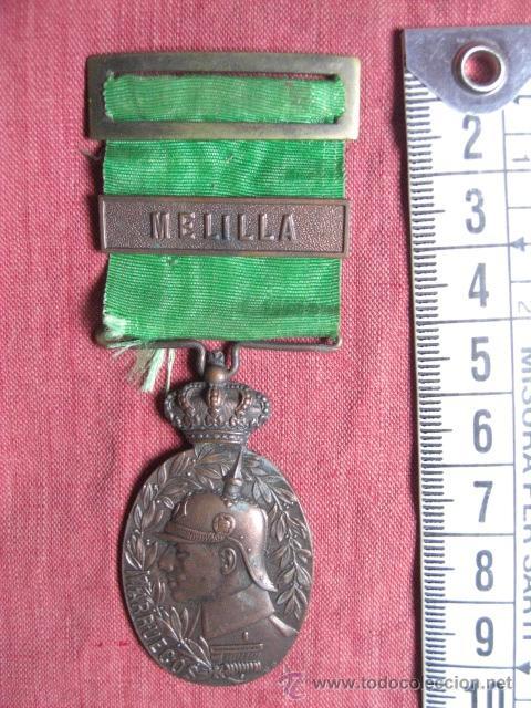 MEDALLA DE MARRUECOS. PASADOR MELILLA. CREADA EN 1916. (Militar - Medallas Españolas Originales )