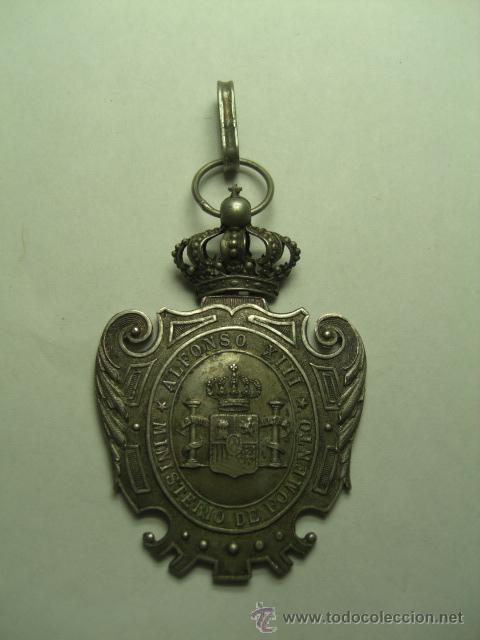 MINISTERIO DE FOMENTO. INSTRUCCIÓN PÚBLICA. MAGISTERIO 1ª ENSEÑANZA. ALFONSO XIII. (Militar - Medallas Españolas Originales )