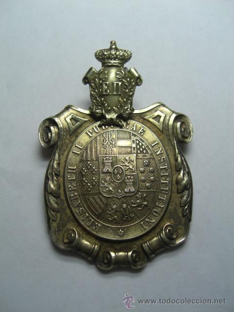 MEDALLA VENERA DOCTOR UNIVERSITARIO. INSTITUIDA POR ISABEL II. (Militar - Medallas Españolas Originales )