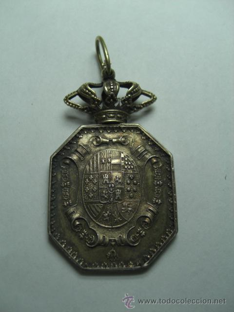 Militaria: Justicia. Medalla venera para cuello. Época Isabel II o Alfonso XII - Foto 2 - 26942274