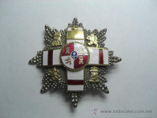 PLACA DE MERITO MILITAR DISTINTIVO BLANCO PENSIONADA. ÉPOCA DE JUAN CARLOS I. (Militar - Medallas Españolas Originales )