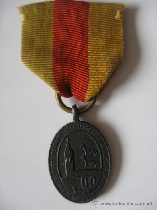 MEDALLA DE LA DEFENSA DE BILBAO. GUERRAS CARLISTAS . 2 DE MAYO DE 1874 (Militar - Medallas Españolas Originales )