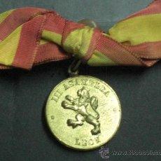 Militaria: LEÓN. MEDALLA DE LA III ASAMBLEA DE ALFÉRECES PROVISIONALES.. Lote 27368627
