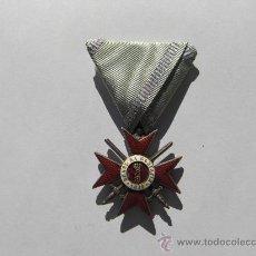 Militaria: BULGARIA- ORDEN AL VALOR MILITAR IV CLASE,PRIMER MODELO 1879/1912,CINTA ORIGINAL TRIAN. PERF.ESTADO. Lote 27552940