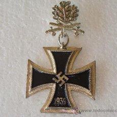 Militaria: MEDALLA ALEMANIA . CRUZ DE CABALLERO DE LA CRUZ DE HIERRO. HOJAS DE ROBLE PLATA. 1813 1939 . Lote 57071684