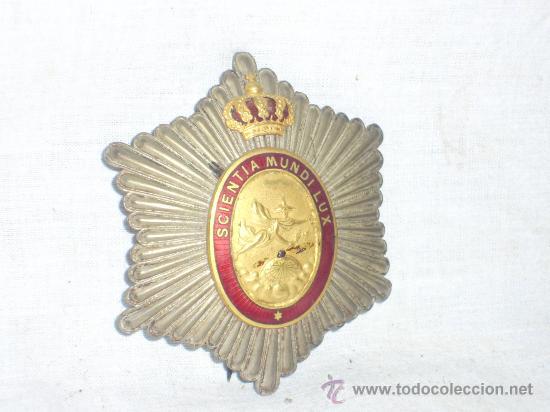 Militaria: Placa Real Academia Hispano Americana de Ciencias, Artes y Letras de Cadiz. Época de Alfonso XIII. - Foto 3 - 27107098