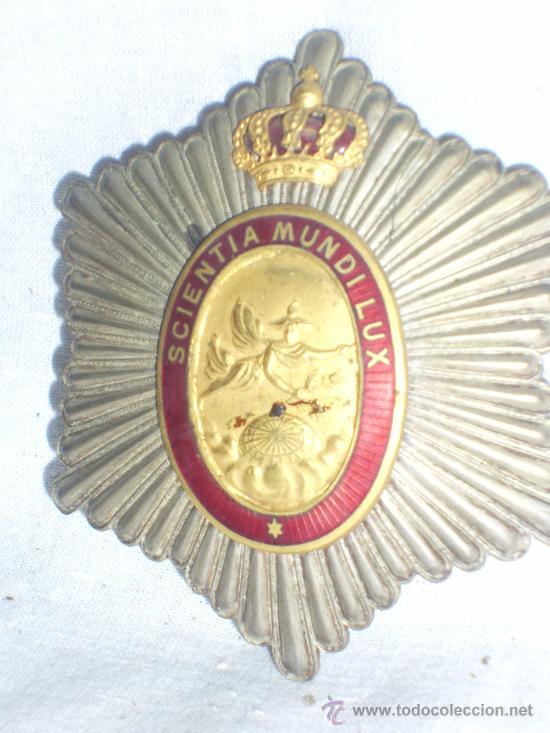 Militaria: Placa Real Academia Hispano Americana de Ciencias, Artes y Letras de Cadiz. Época de Alfonso XIII. - Foto 4 - 27107098