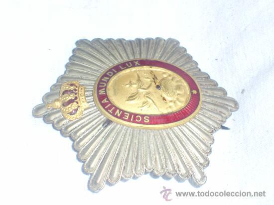 Militaria: Placa Real Academia Hispano Americana de Ciencias, Artes y Letras de Cadiz. Época de Alfonso XIII. - Foto 5 - 27107098