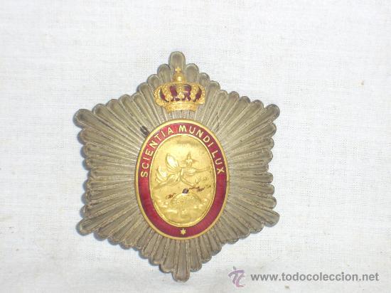 Militaria: Placa Real Academia Hispano Americana de Ciencias, Artes y Letras de Cadiz. Época de Alfonso XIII. - Foto 7 - 27107098