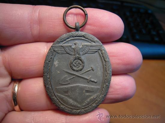 ALEMANIA. II GUERRA MUNDIAL. MEDALLA DEL MURO DEL ATLÁNTICO. SIN CINTA. (Militar - Medallas Extranjeras Originales)