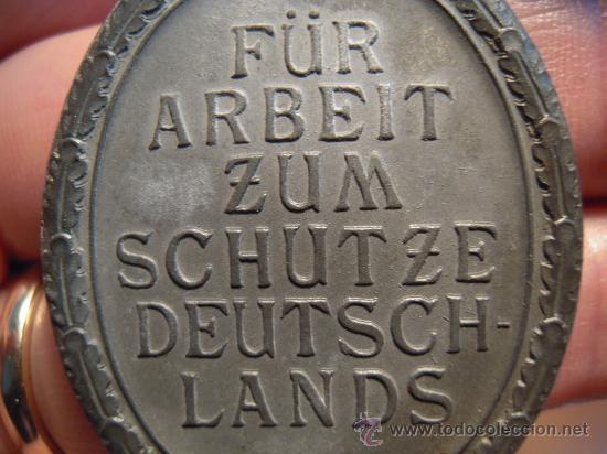 Militaria: Alemania. II Guerra Mundial. Medalla del Muro del Atlántico. Sin cinta. - Foto 4 - 27274091