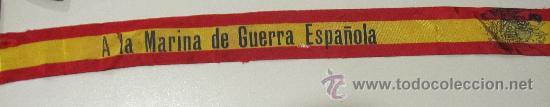 CINTA DE LA MARINA DE LA GUERRA ESPAÑOLA (Militar - Cintas de Medallas y Pasadores)