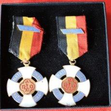 Militaria: PAREJA DE MEDALLAS DE BELGICA. Lote 28751665